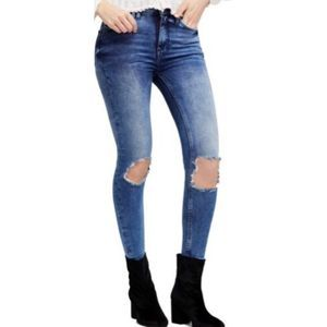 Free People High Waist Ankle Skinny jeans A0301